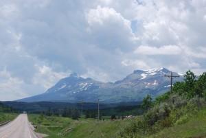 Climb approaching Glacier NP