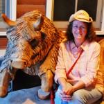 Buffalo carving at Ft. Hays