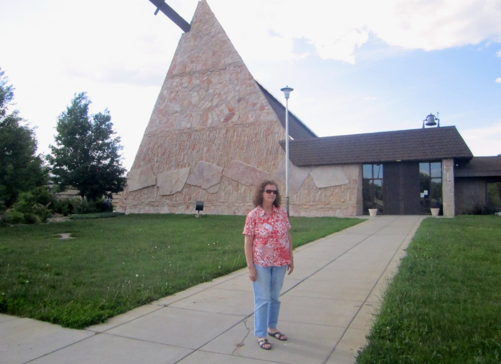 Gail at the St. Labre Chapel