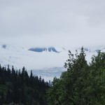 Large Glacier As Seen From RV