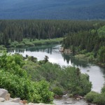 River At Many Glacier Park