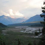 The Evening Mountains And The Glacial Rivers