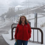 Gail Near The Visitor Center On Logan Pass